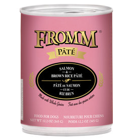 Fromm Fromm Pate Dog Can Salmon & Brown Rice CASE OF 12 - 12.3OZ
