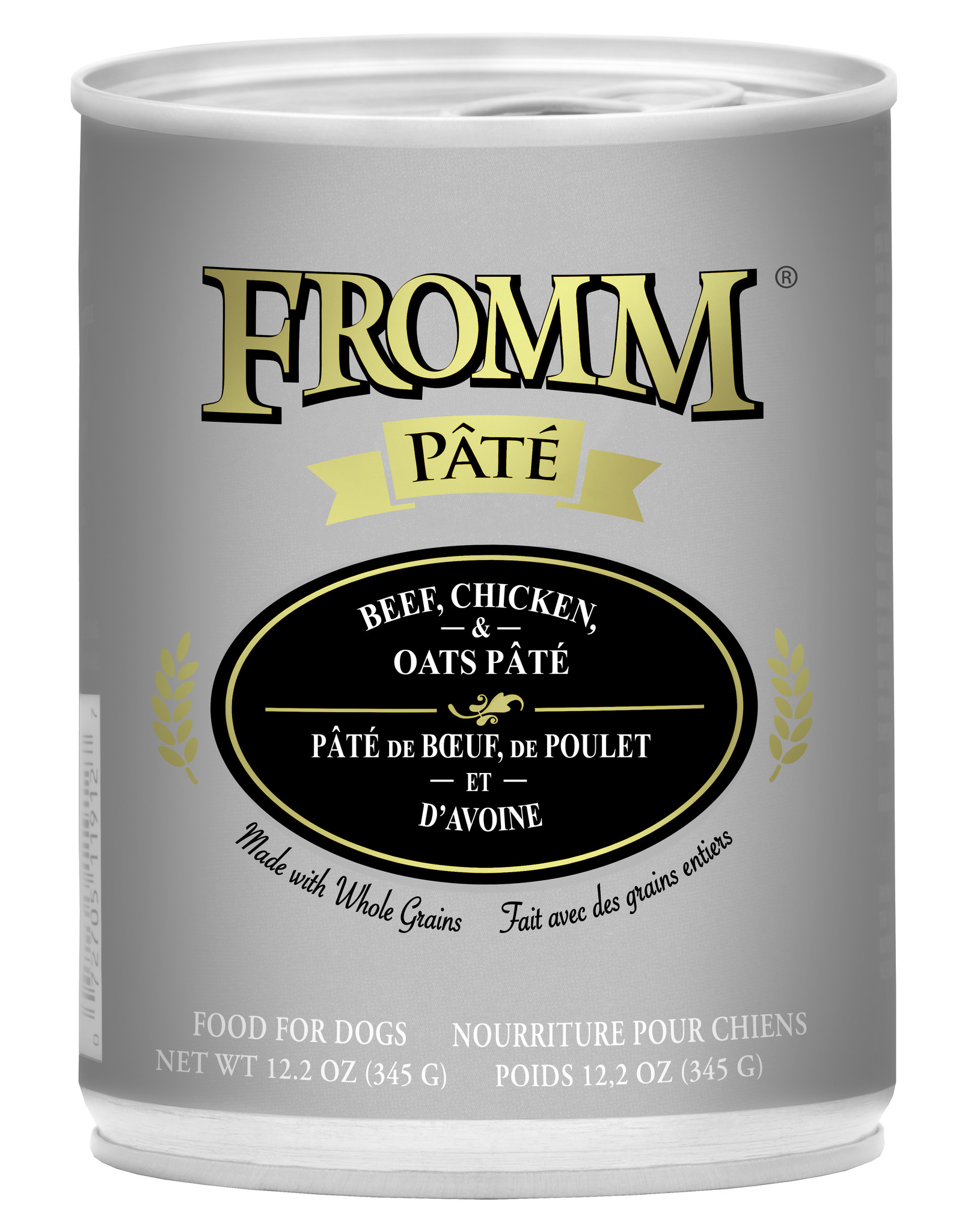 Fromm Fromm Pate Dog Can Beef, Chicken & Oats CASE OF 12-12.2oz