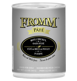 Fromm Fromm Pate Dog Can Beef, Chicken & Oats 12.2oz
