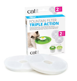CA - Catit Catit Triple Action Fountain Filter - 2 pack