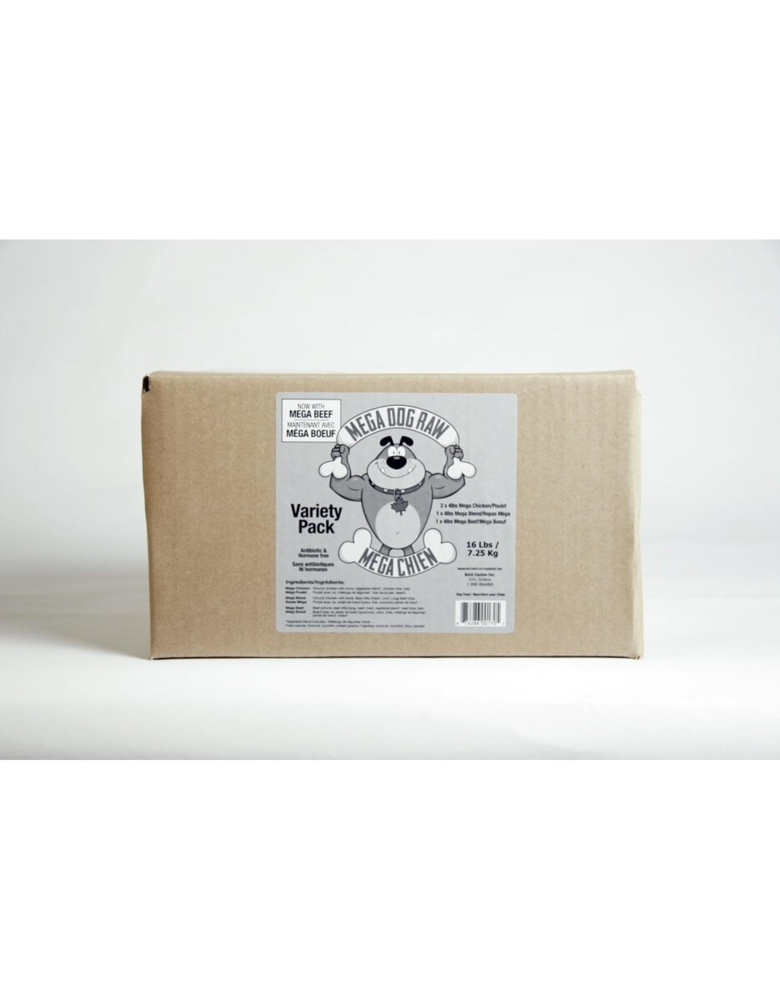 Mega Dog (FRZ) \ Mega Dog \ Mega Variety pack 4 x 4 lb