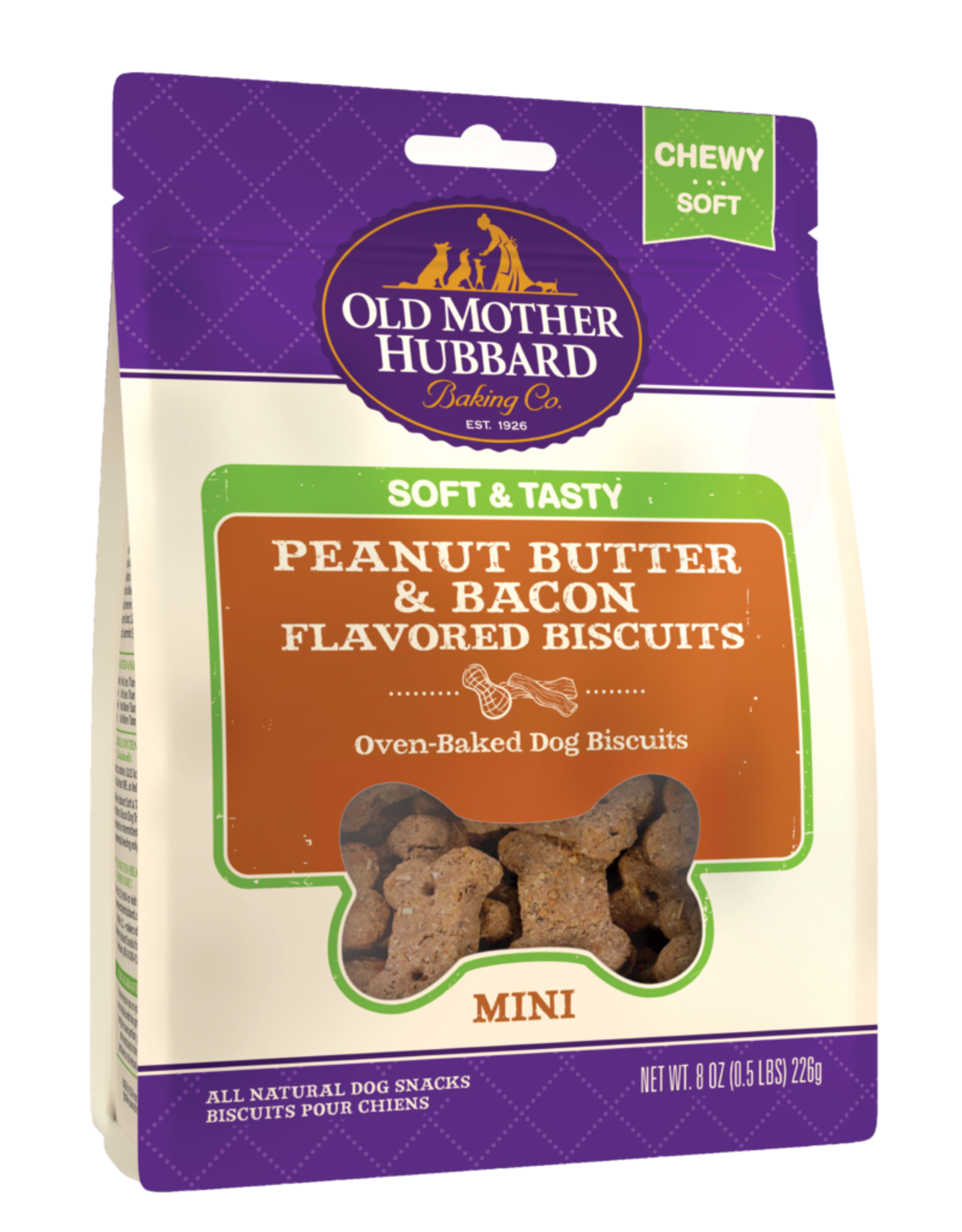 Old Mother Hubbard Old Mother Hubbard Soft & Tasty Peanut Butter & Bacon Mini 8oz