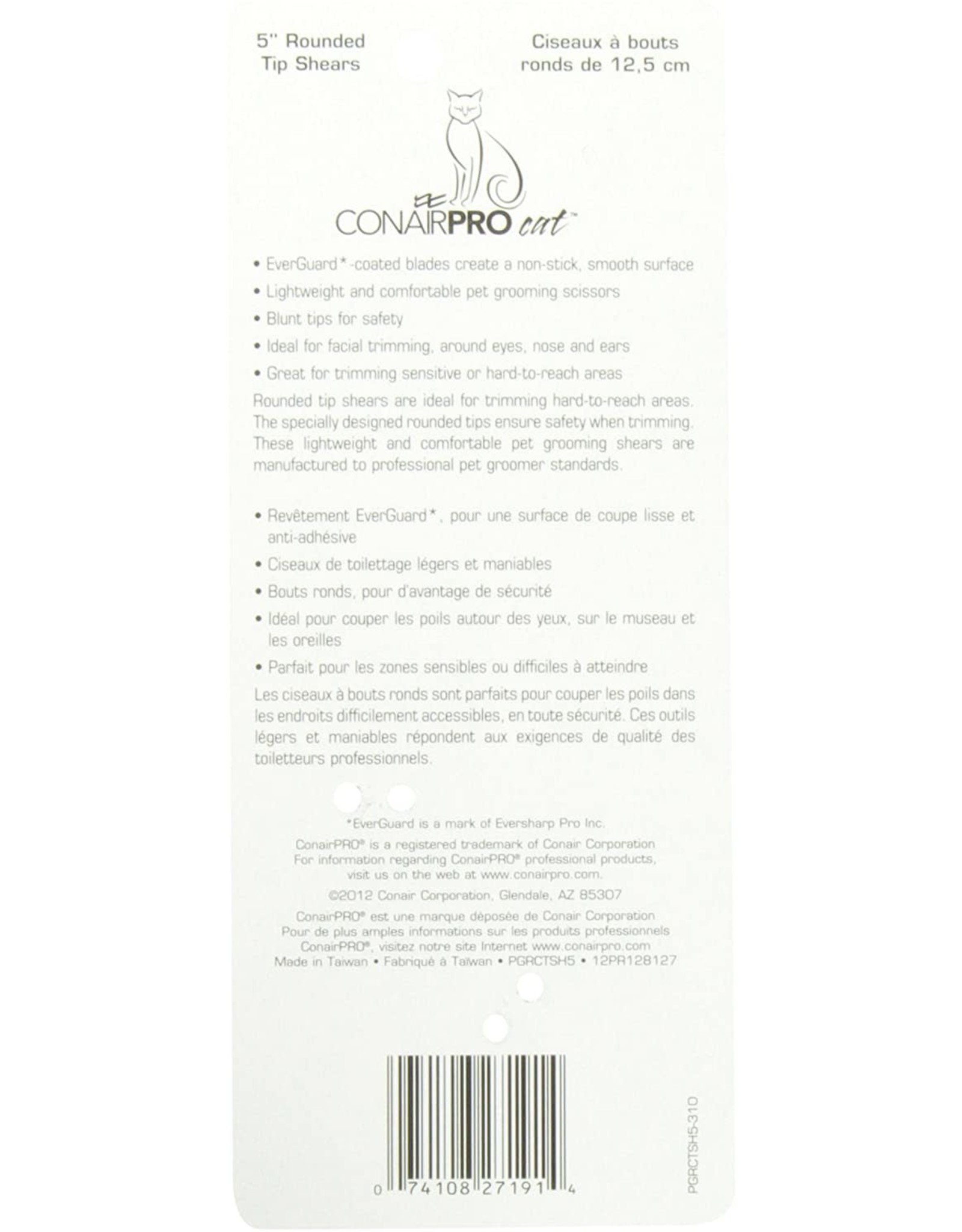 ConairPro Conair Pro Cat 5'' Rounded Tip Shears