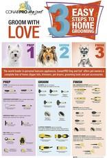 ConairPro Conair Pro Dog Memory Gel Grip Undercoat Rake Medium Tooth