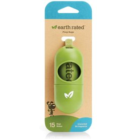Earthrate Poop Bags Earthrated Poop Bags \ Unscented \ Green Dispenser Capsule (15ct)
