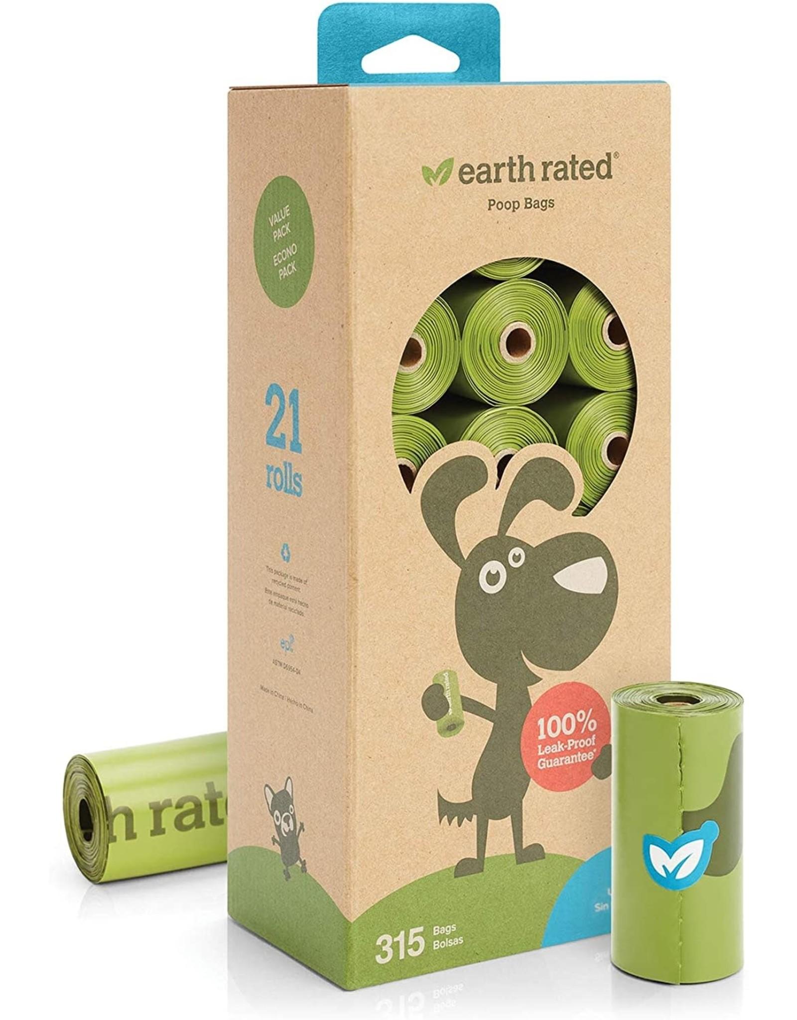 Earthrate Poop Bags Earthrated Poop Bags \ Unscented \ Refill Rolls Bulk (315 Bags)