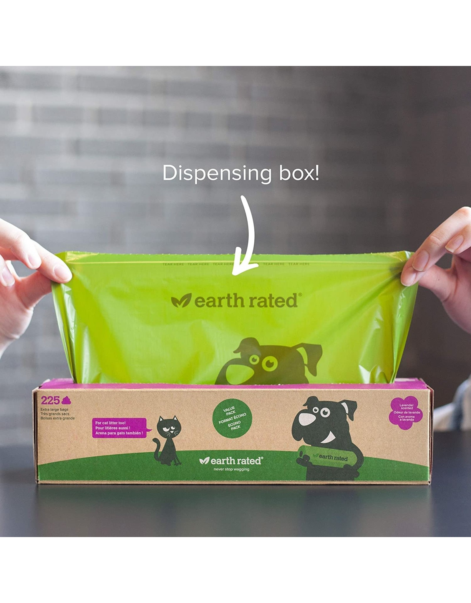 Earthrate Poop Bags Earthrated Poop Bags \ Unscented \ Eco-Friendly Handle Bags (120ct)