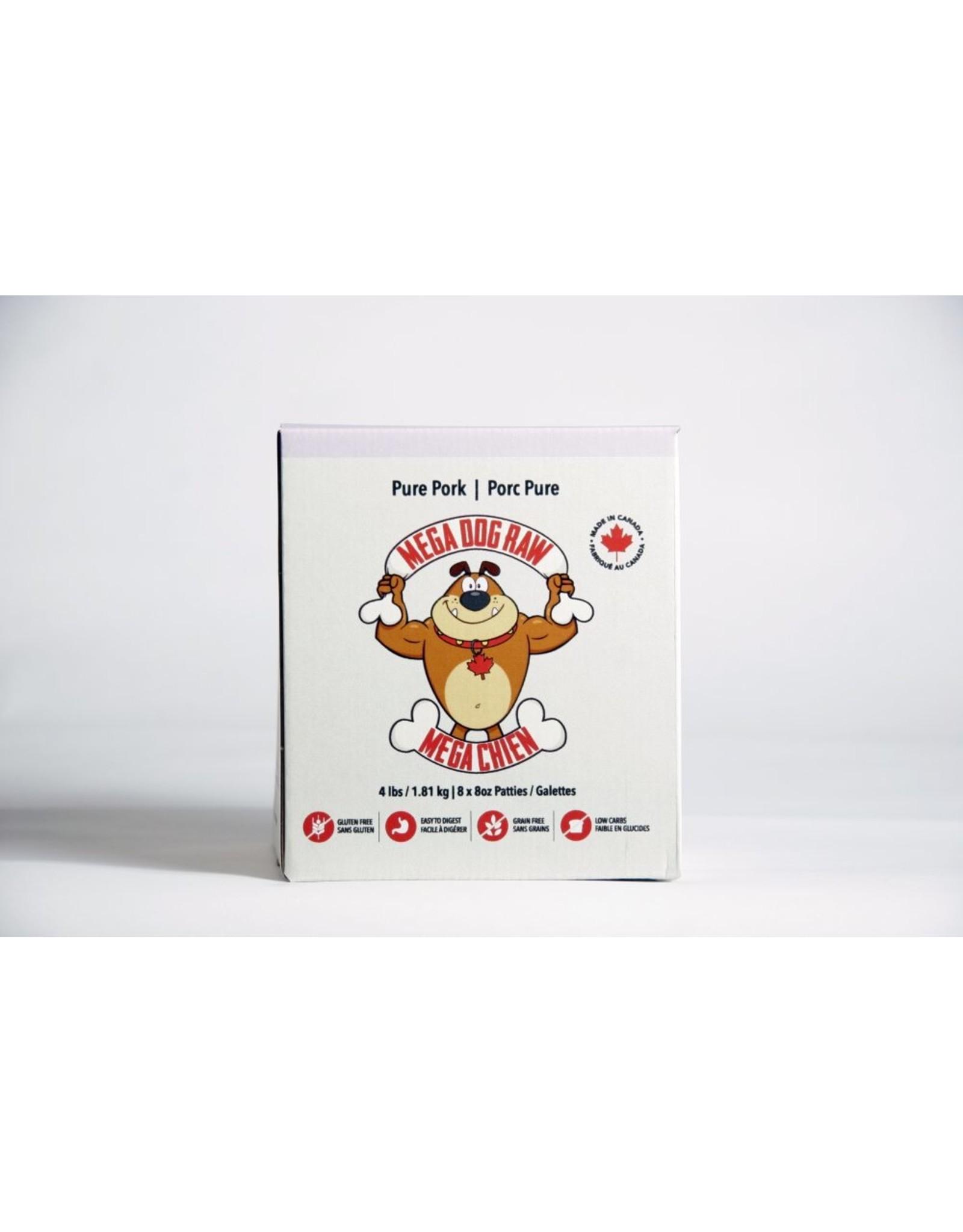 Mega Dog (FRZ) \ Mega Dog \ Pure Pork 4 lb Patties