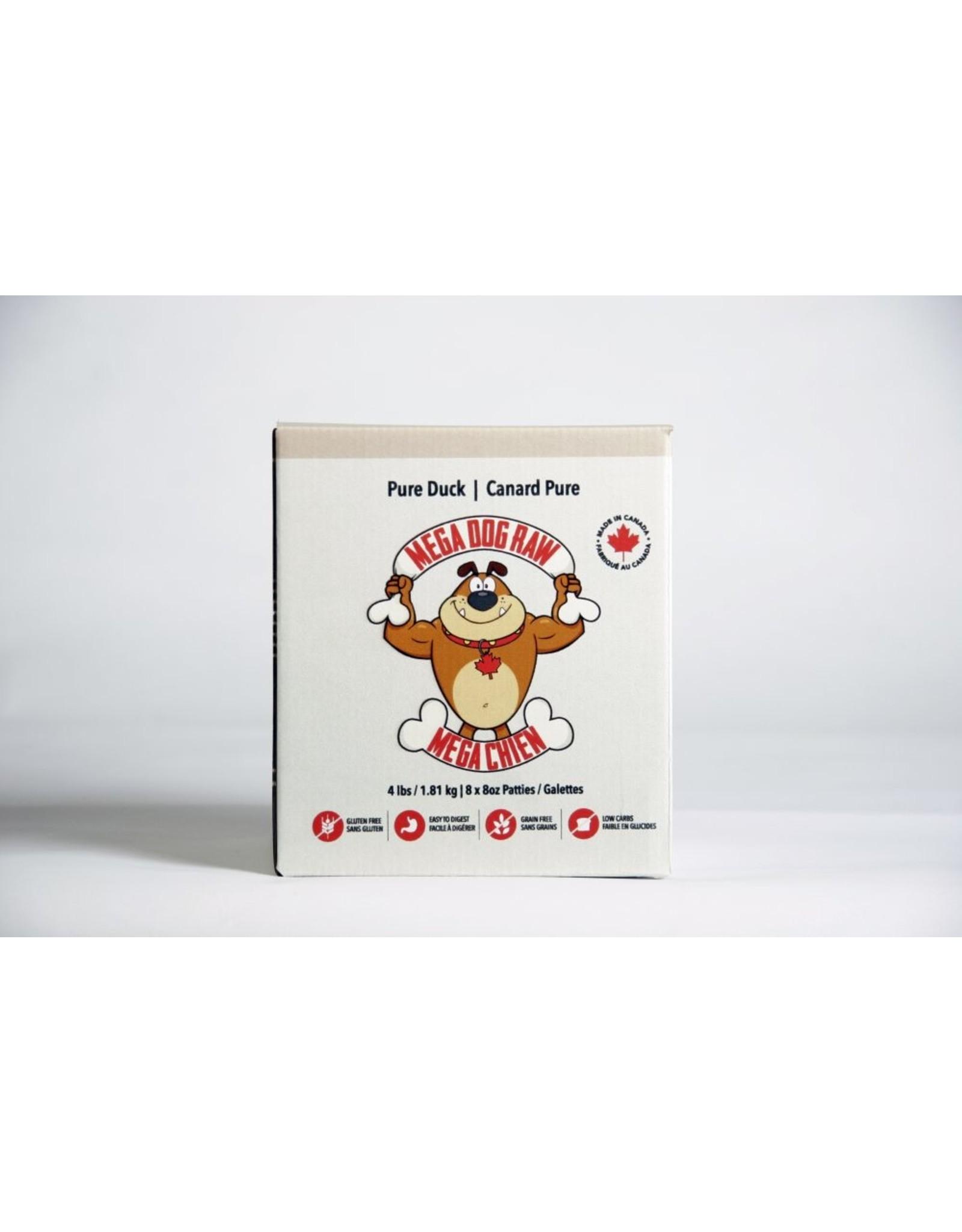 Mega Dog (FRZ) \ Mega Dog \ Pure Duck 4 lb Patties
