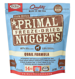 Primal Primal Freeze-Dried Canine Quail