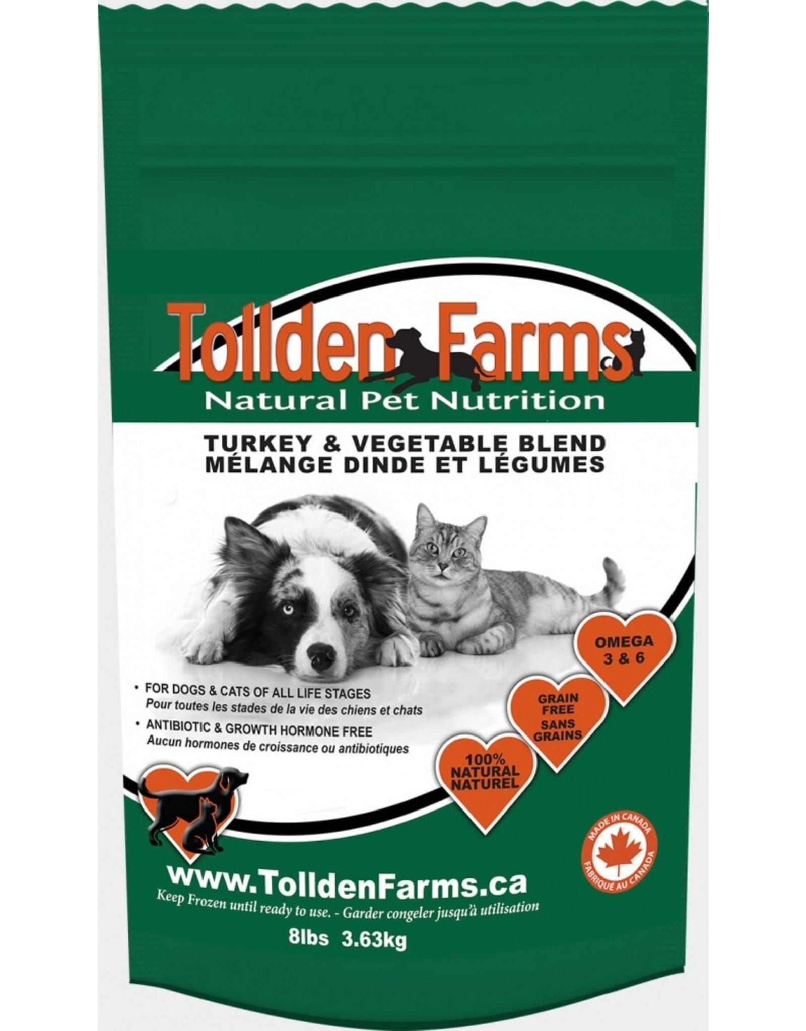 Tollden Tollden Farms Turkey and Vegetable Blend 8lb (16 8oz patties)