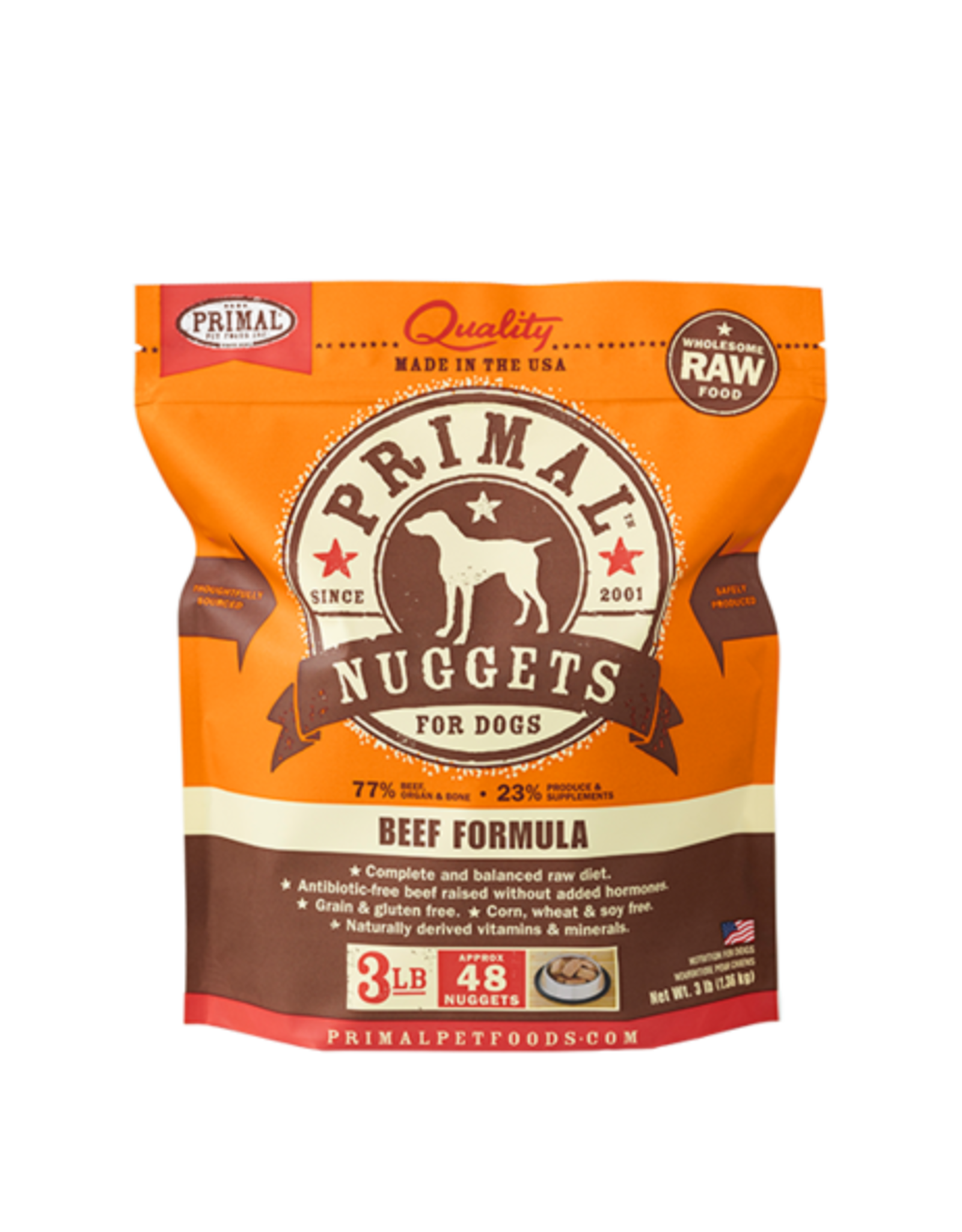 Primal Primal Frozen Canine Beef Nuggets 3lb