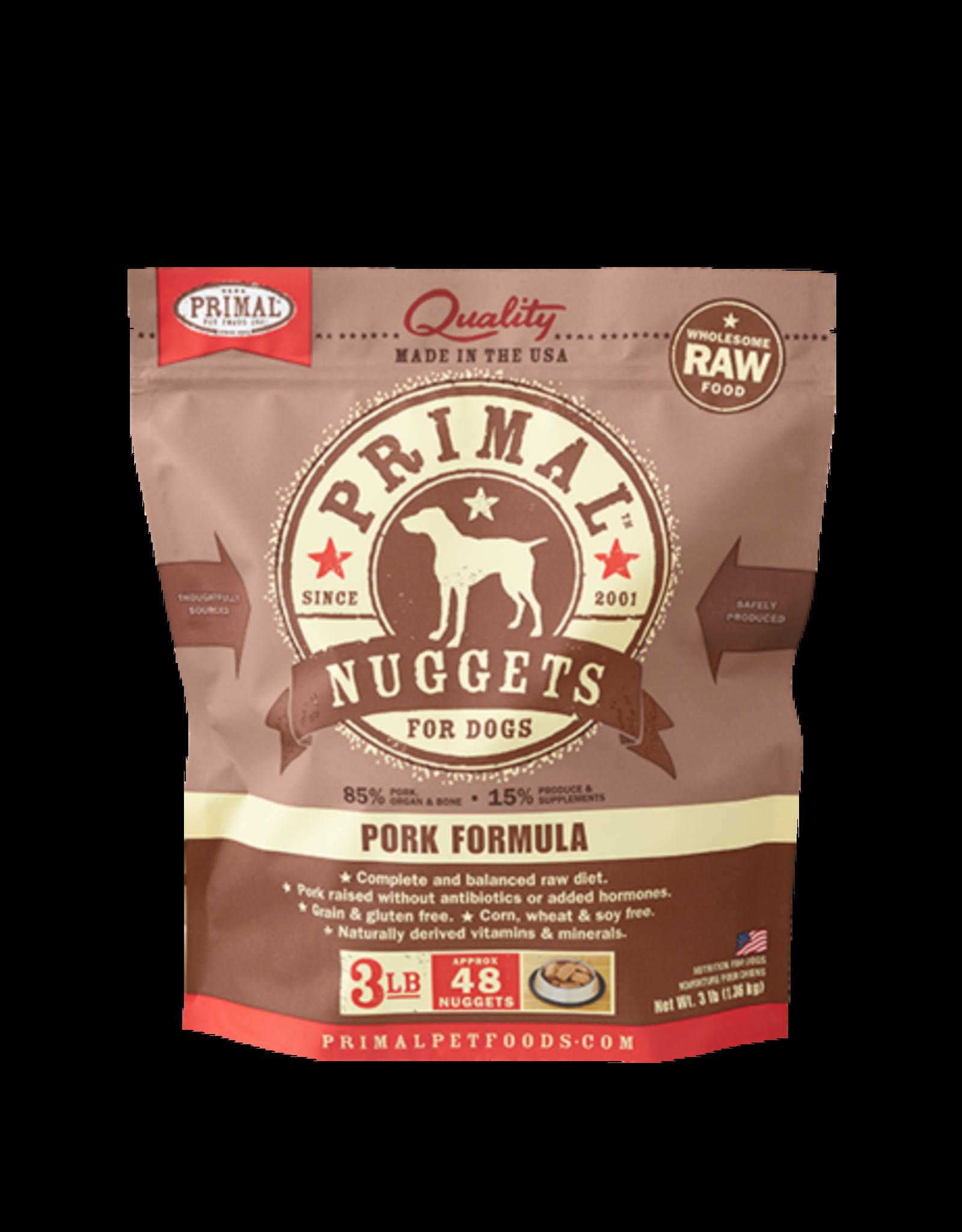 Primal Primal Frozen Canine Pork 3lb