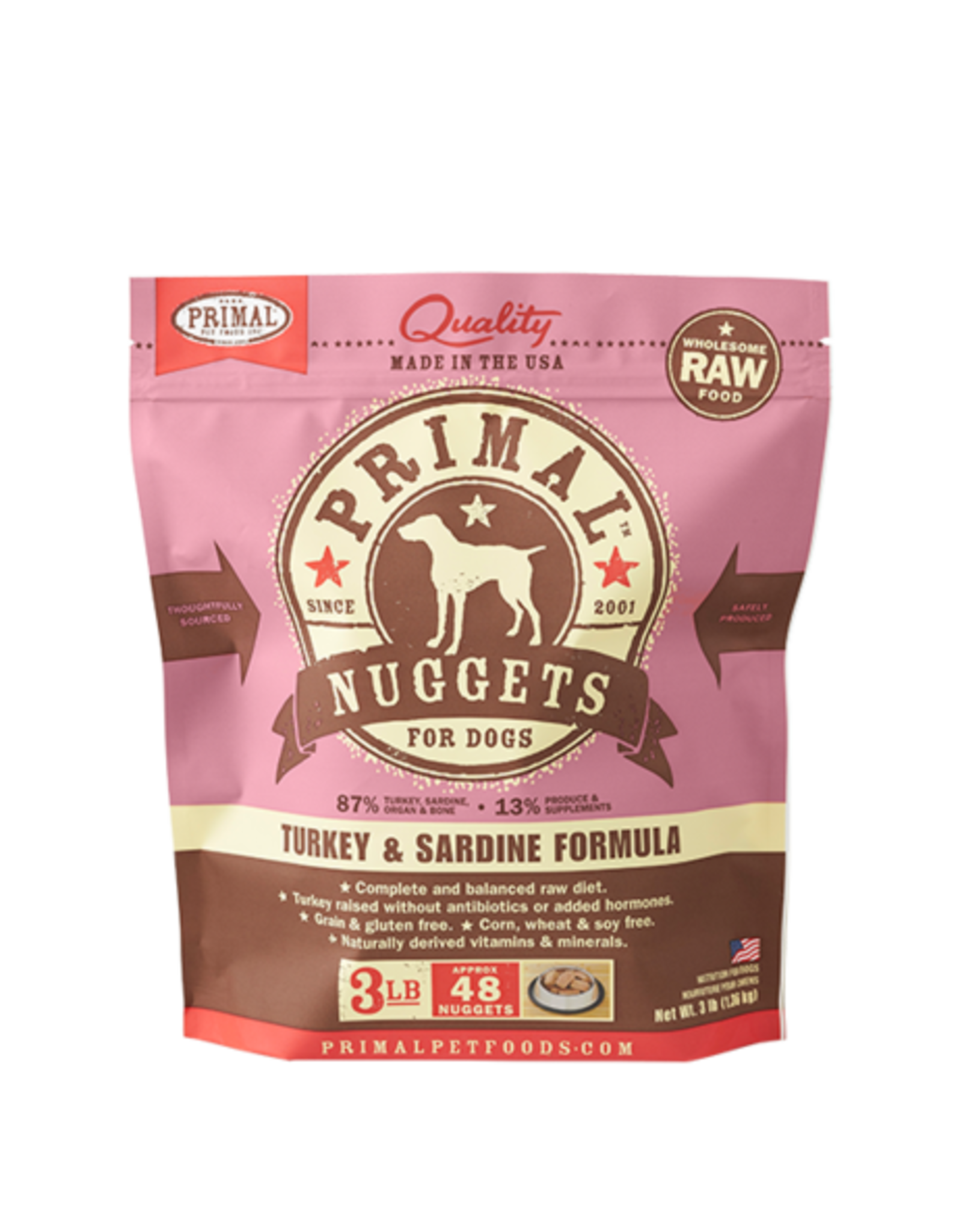 Primal Primal Frozen Canine Turkey & Sardine 3lb