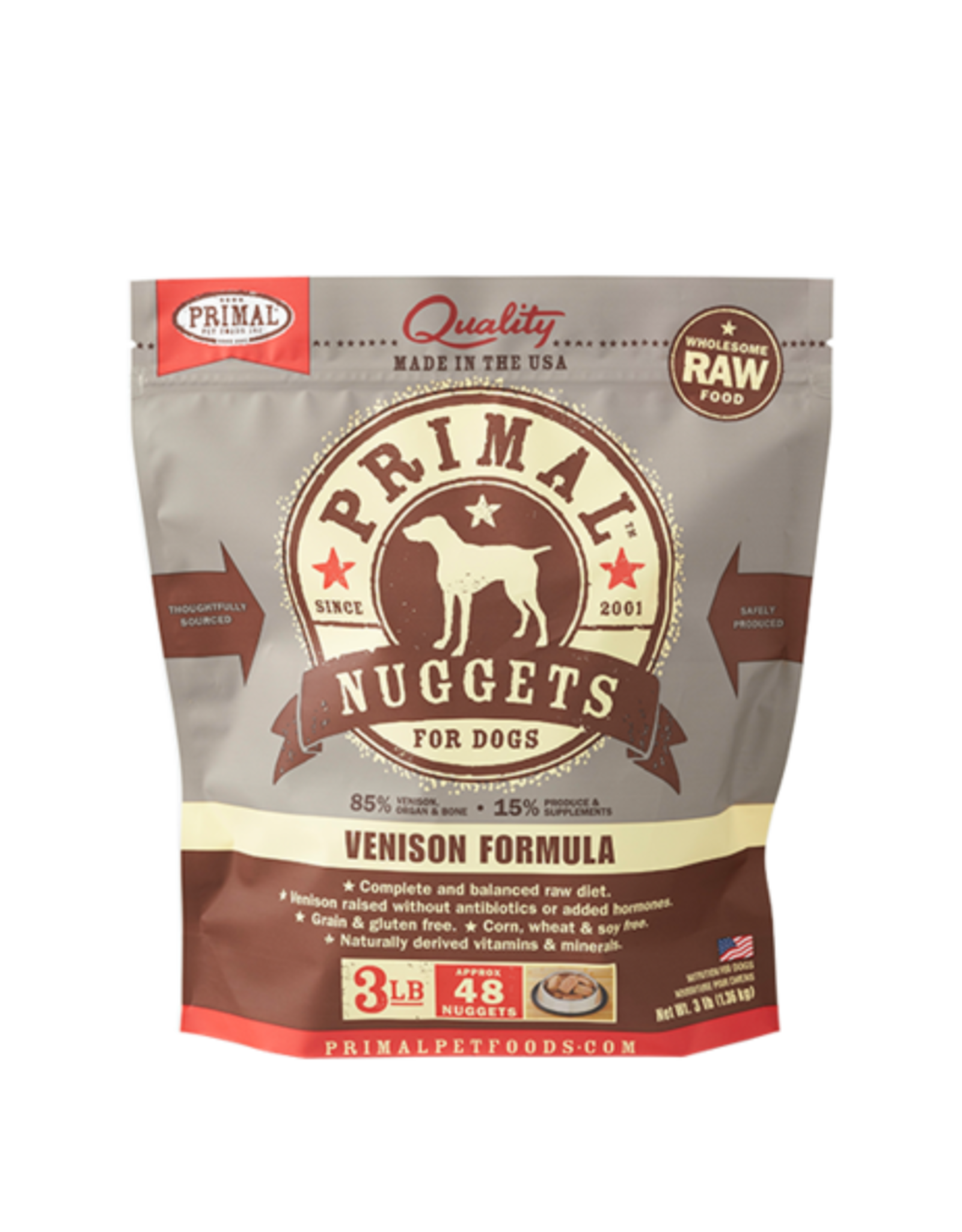 Primal Primal Frozen Canine Venison 3lb