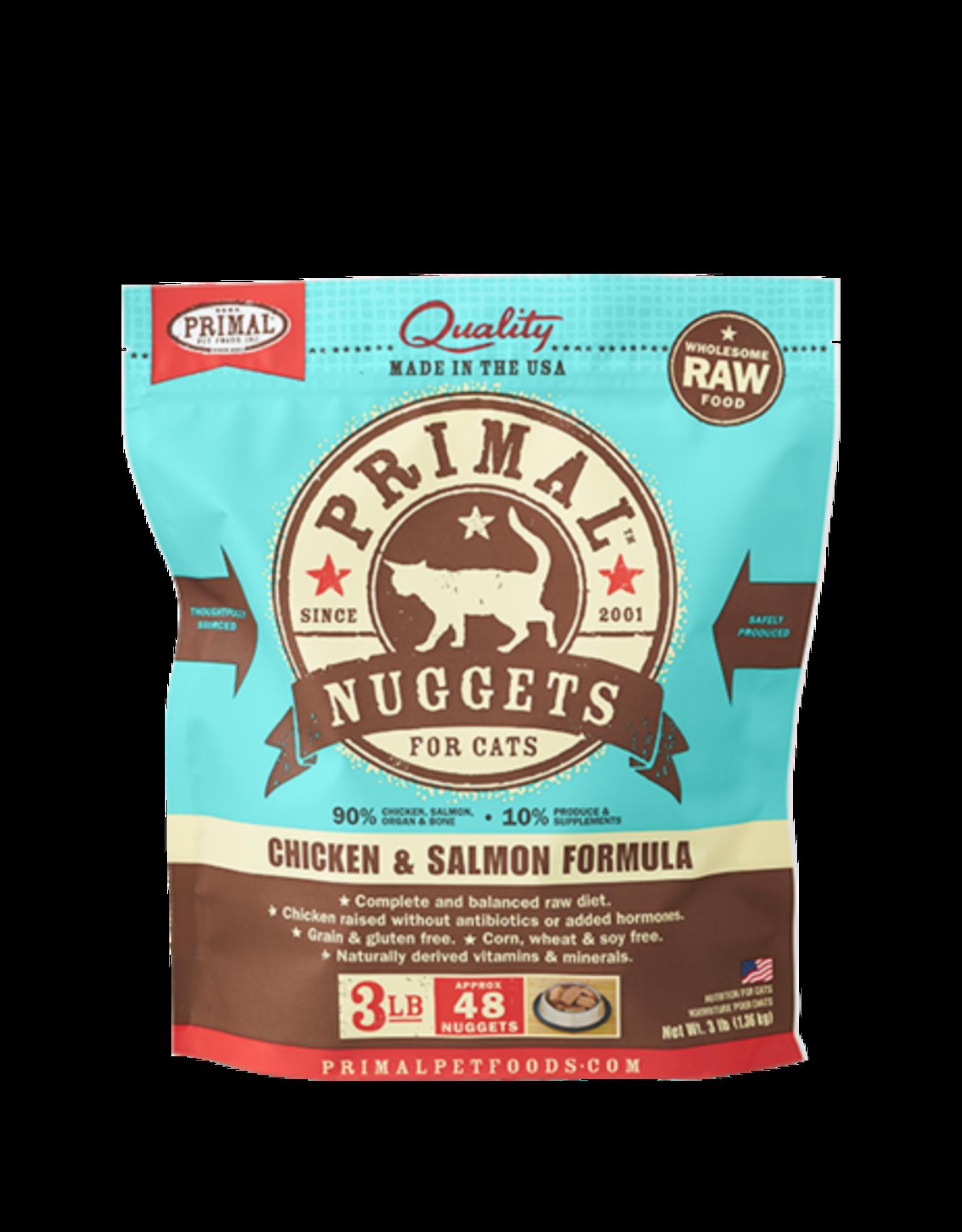 Primal Primal Frozen Feline Chicken & Salmon Nuggets 3lb