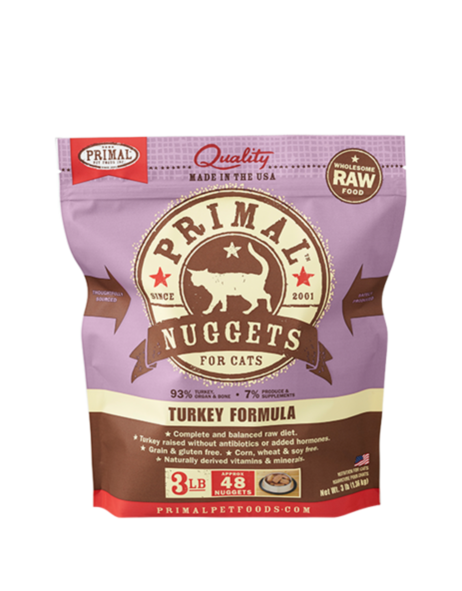 Primal Primal Frozen Feline Turkey Nuggets 3lb