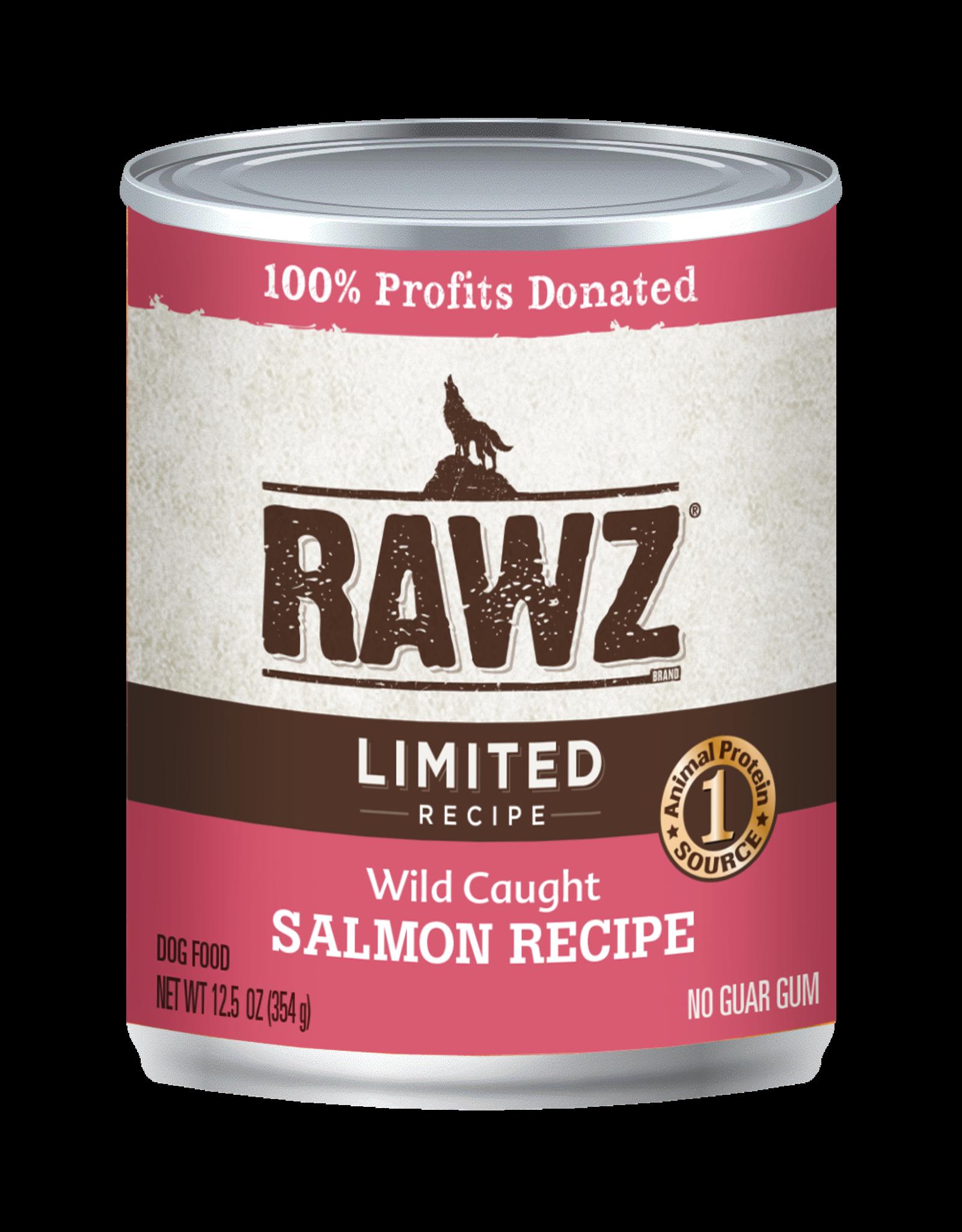 Rawz RAWZ \ DOG \ CAN \ LID \ Salmon 12 x 12.5oz