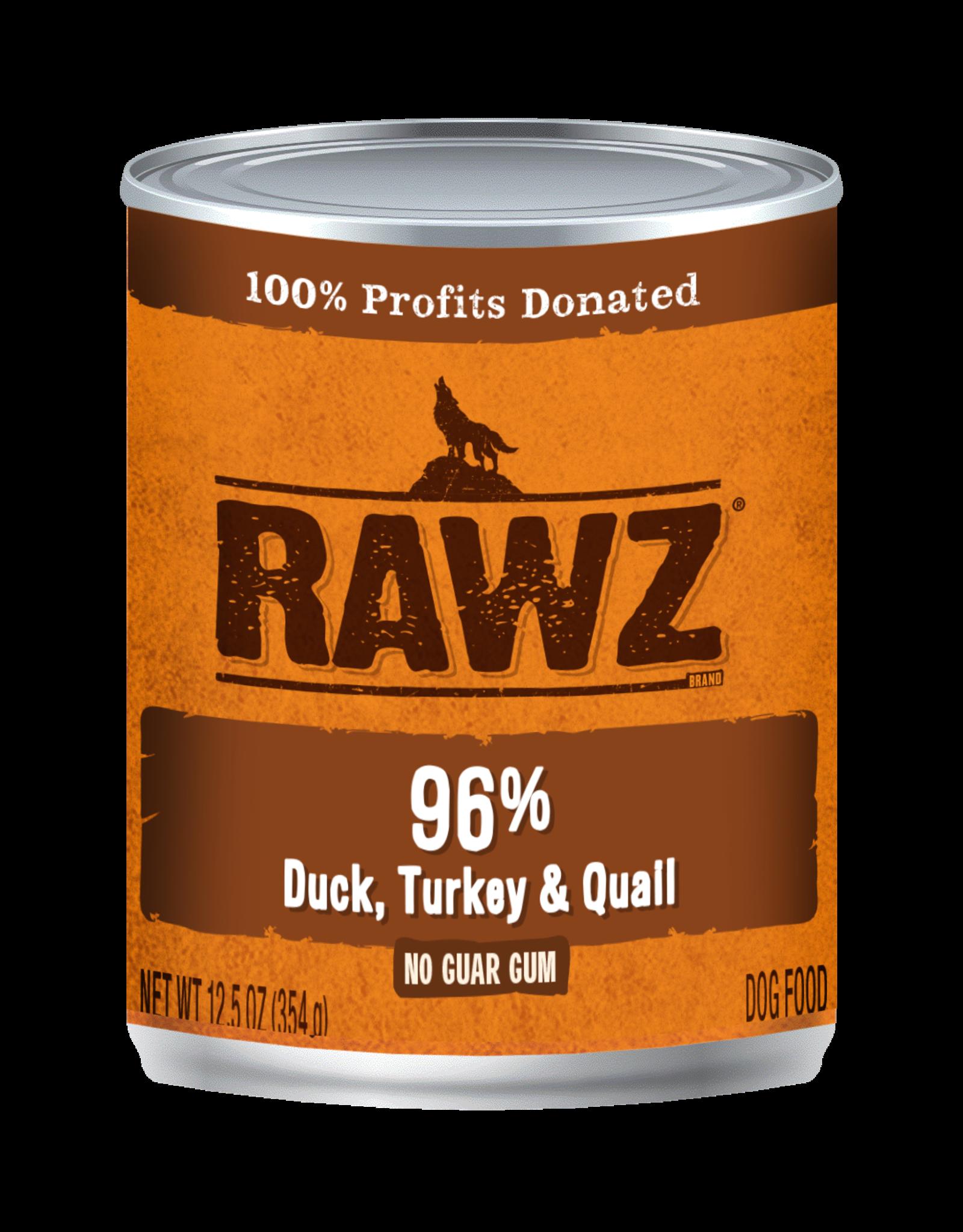 Rawz RAWZ \ DOG \ CAN \ 96% Duck, Turk, Quail 12 x 12.5oz