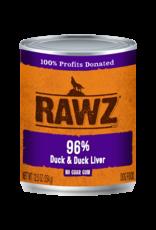 Rawz RAWZ \ DOG \ CAN \ 96% Duck & Duck Liver 12 x 12.5oz