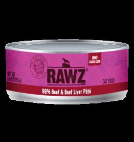Rawz RAWZ \ CAT \ CAN \ 96% Beef & Beef Liver 24 x 5.5oz