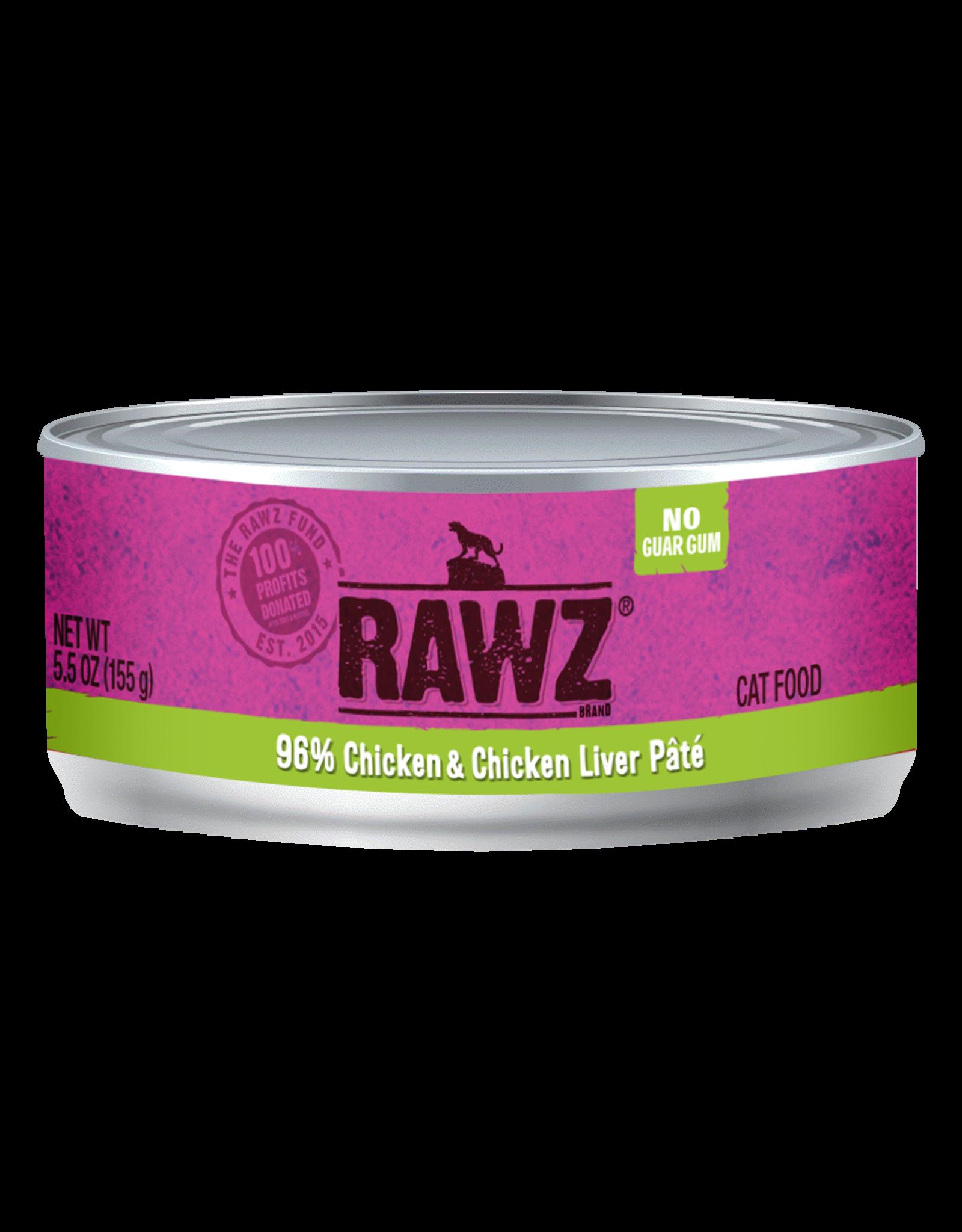 Rawz RAWZ \ CAT \ CAN \ 96% Chicken & Chick Liver 24 x 5.5oz