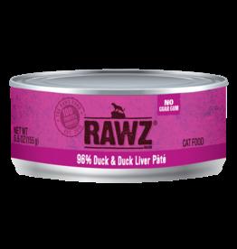 Rawz RAWZ \ CAT \ CAN \ 96% Duck & Duck Liver 24 x 5.5oz