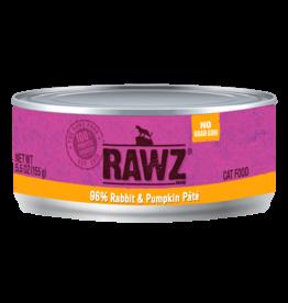 Rawz RAWZ \ CAT \ CAN \ 96% Rabbit & Pumpkin Pate 24 x 5.5oz