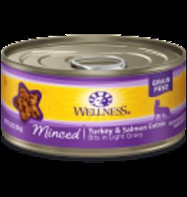 Wellness Wellness Feline Minced Turkey & Salmon 5.5oz