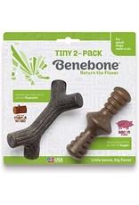 Benebone Benebone Tiny Adult Stick Zaggler Bacon 2 pk