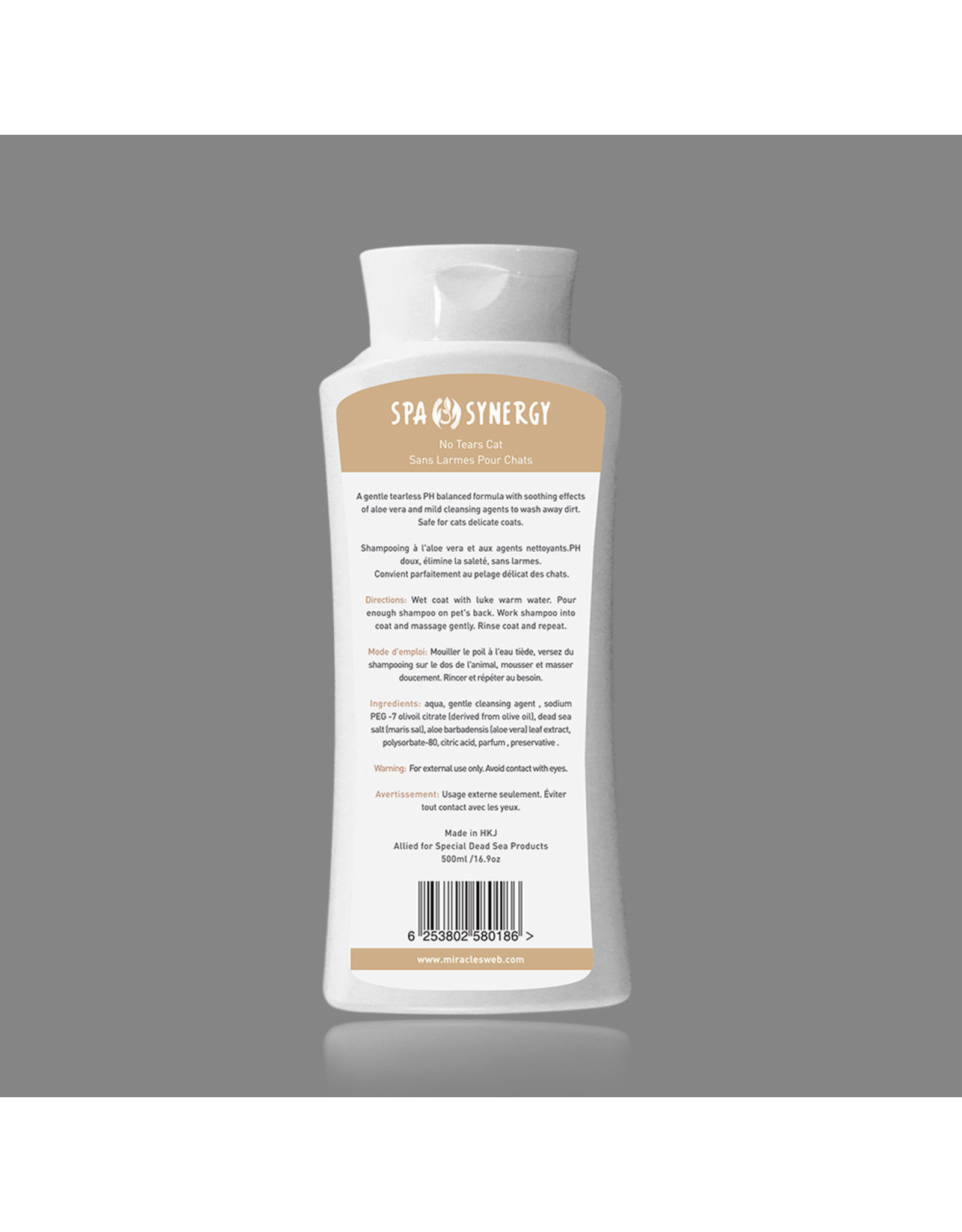 Spa Synergy Spa Synergy Mineral Shampoo Dead Sea & Aloe No Tears Cat 16.9oz