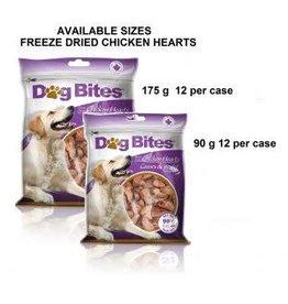 Dog Bites DOG BITES \ Freeze Dried \ Chicken Hearts