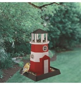 My Pet MY PET LARGE LIGHTHOUSE BIRD FEEDER RED/WHITE