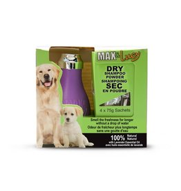 Max & Lucy Max & Lucy Dry Dog Shampoo Bulb Lavender 4 x 75G Sachets