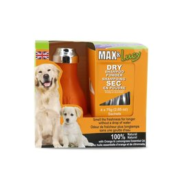 Max & Lucy Max & Lucy Dry Dog Shampoo Bulb Orange & Lemongrass 4 x 75G Sachets