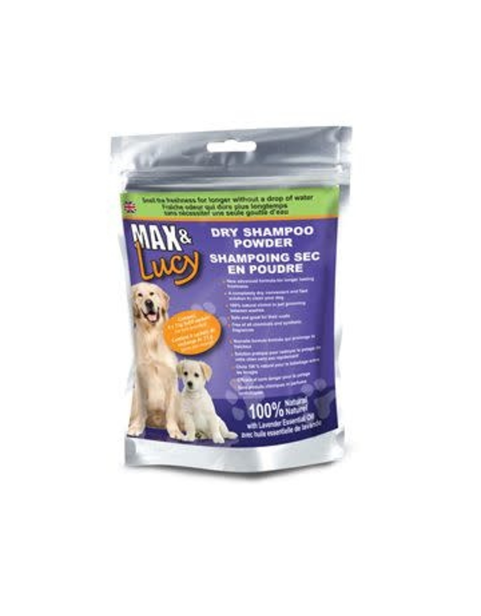 Max & Lucy Max & Lucy Dry Dog Shampoo Refill Lavender 4 x 75G Sachets