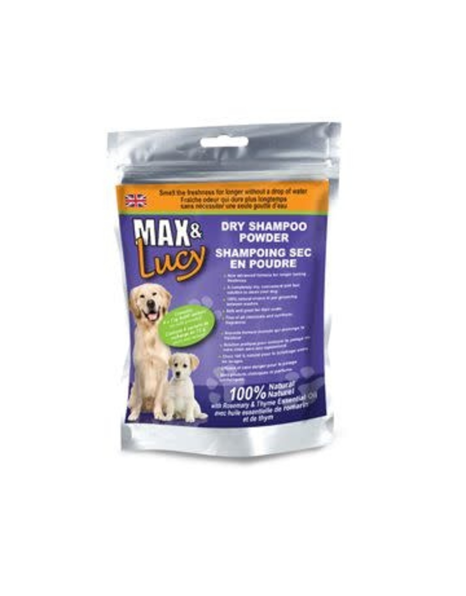 Max & Lucy Max & Lucy Dry Dog Shampoo Refill Rosemary & Thyme 4 x 75G Sachets