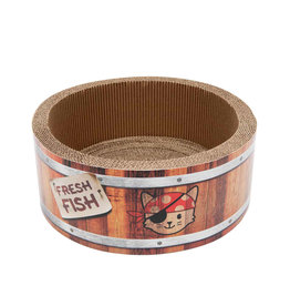 CA - Catit Catit Play Pirates Barrel Scratcher with Catnip