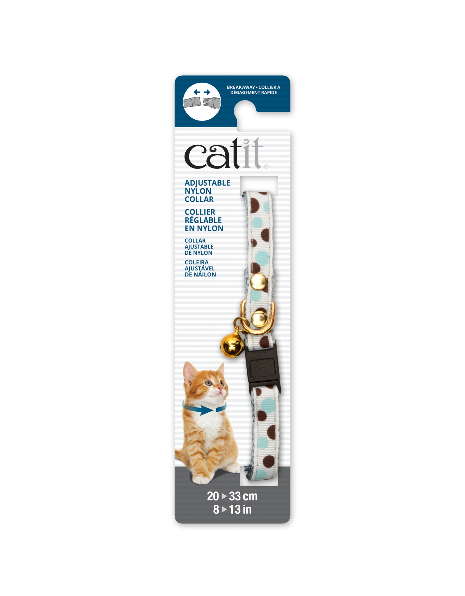 CA - Catit Catit Adjustable Breakaway Nylon Collar with Rivets