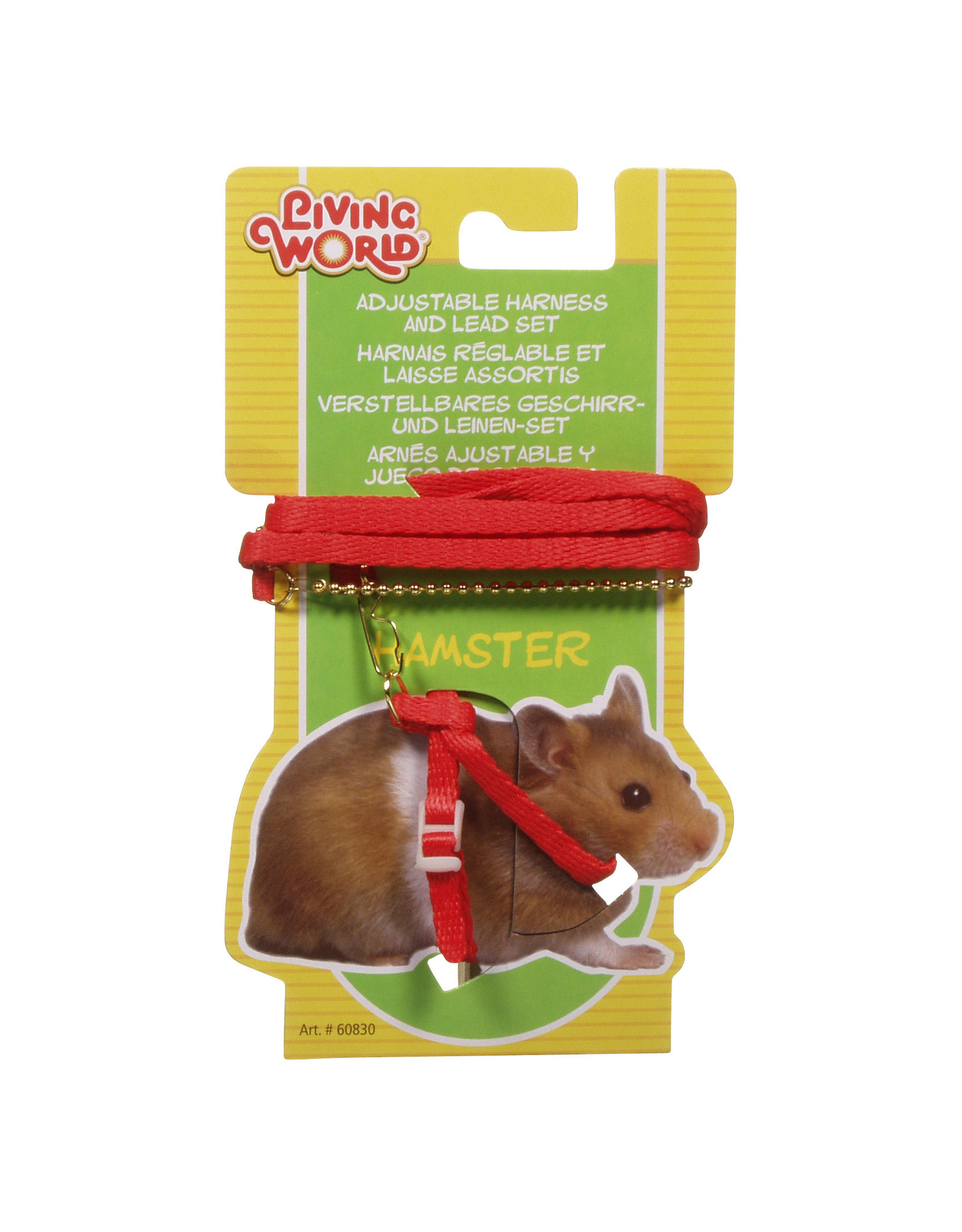 LW - Living World LW Hamster Figure 8 Harness & Lead Set Red
