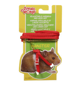 LW - Living World LW Hamster Figure 8 Harness & Lead Set Red