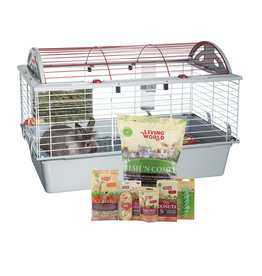 LW - Living World Living World Deluxe Rabbit Starter Kit - 78 cm L x 48 cm W x 50 cm H (30.7in x 18.9in x 19.7in)