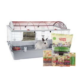 LW - Living World Living World Deluxe Rabbit Starter Kit - Large - 96 cm L X 57 cm W X 56 cm H (37.8in X 22.4in X 22in)