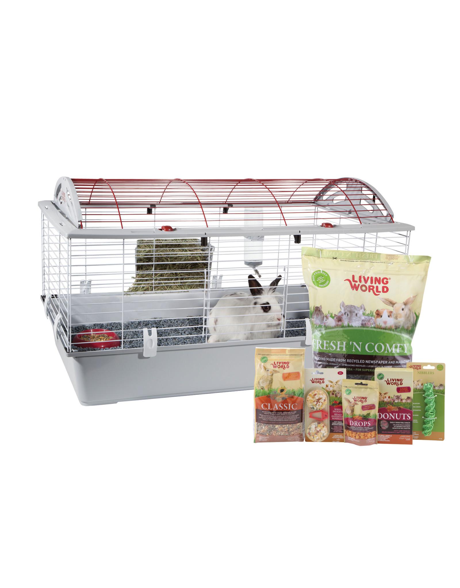 LW - Living World Living World Deluxe Rabbit Starter Kit - Large - 96 cm L X 57 cm W X 56 cm H (37.8in X 22.4in X 22in)
