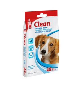 DO - Dogit Dogit Clean Grooming Wipes - Unscented - 40 pack - 15 x 20 cm (6 x 8in)