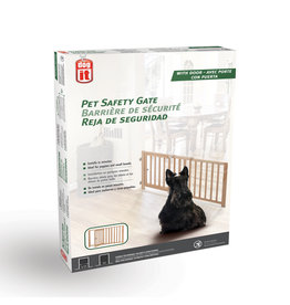 DO - Dogit Dogit Pet Safety Gate with Pet Door - 71 cm - 111.5 cm W x 45.5 cm H (28in - 44in W x 18in H)