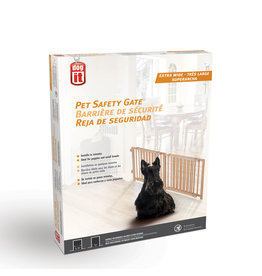 DO - Dogit Dogit Pet Safety Gate - Extra Wide - 122 cm - 203 cm W x 45.5 cm H (48in - 80in W x 18in H)