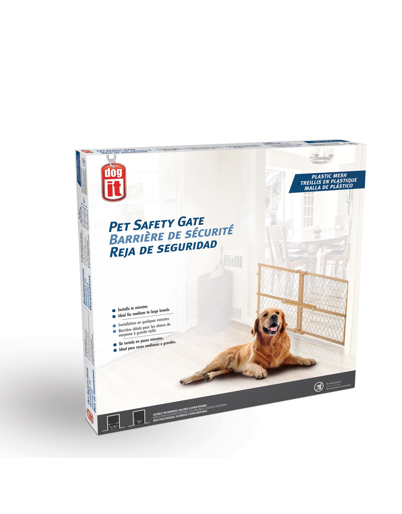 DO - Dogit Dogit Pet Safety Gate - Plastic Mesh - 66 cm - 106.5 cm W x 58.5 cm H (26in - 42in W x 23in H)