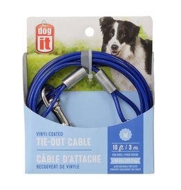 DO - Dogit Dogit Tie-Out Cable - Blue - Medium - 3 m (10 ft)