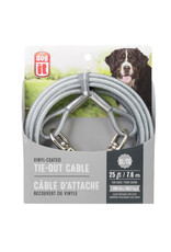DO - Dogit Dogit Tie-Out Cable - Clear - X-Large - 7.6 m (25 ft)